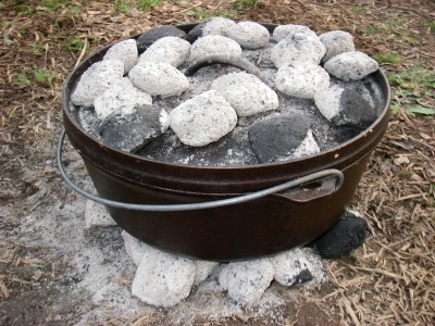 Dutch oven cooking with kids